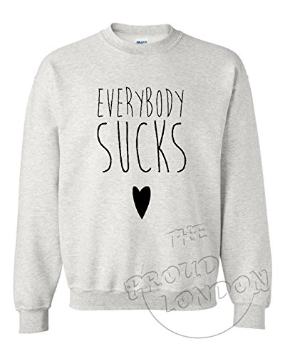 "We Search You Save Everybody Aspire ""Slogan Humour Geek imprimé tendance unisexe ras du cou, Sweatshirt, sweat-shirt Multicolore - Gris"