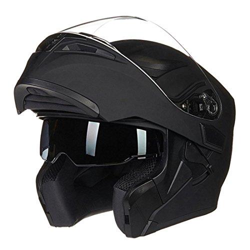 Erwachsener Motocross-Radfahrensicherheitshelm Eingebaute doppelte Schutzbrillen ECE-Bescheinigung ABS materielle waschbare antibakterielle Auflagen 1.5kg 55-61CM , A , L