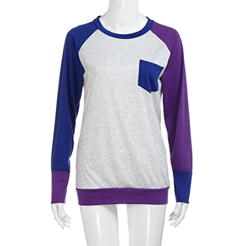 Dinglong Camicia - Casual - Maniche Lunghe - Donna Purple