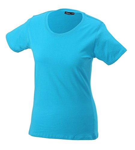 JAMES & NICHOLSON Leicht tailliertes T-Shirt aus Single-Jersey Turquoise