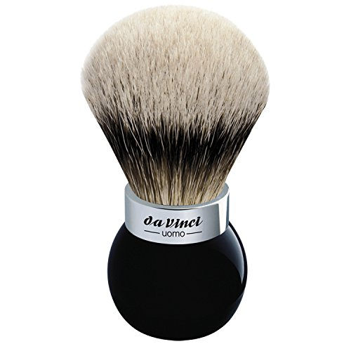 Da Vinci Uomo Shaving Brush Large with Plexi Holder