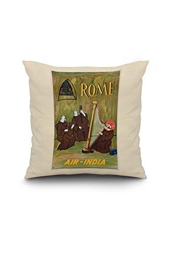 air-india-rome-vintage-poster-india-18x18-spun-polyester-pillow-case-white-border