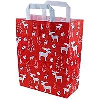 250 Papiertragetaschen Papiertüten rot 22+10x31cm Tragetaschen Beutel Tüten