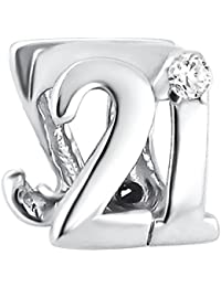 21st Birthday Bead - Sterling Silver
