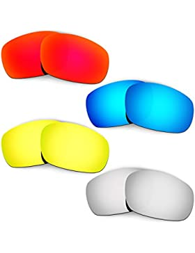 Hkuco Mens Replacement Lenses For Oakley Racing Jacket (Asian Fit) - 4 pair