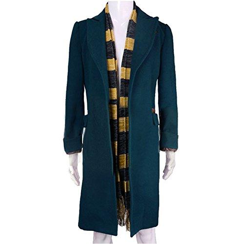 Cosplay Trenchcoat Deluxe Top BLau Jacke Kostüm Kragen Wolle Herren Mantel Lang Kleidung Verrücktes Kleid