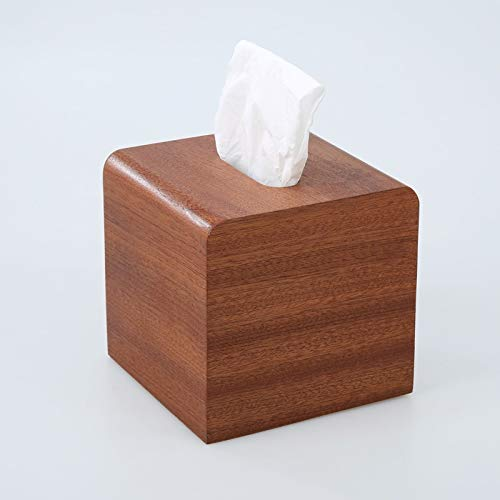 NICOLAS Tissue Box Tissue Cover Holder, Kreative Marmor Textur Rechteckige Holz Tissue Box Cover, Hölzerne Piano Paint Tissue Box Dekoration Kunsthandwerk, Ebenholz (Color : B) -