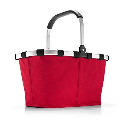 reisenthel carrybag rot Einklaufskorb 48 x 29 x 28 cm, 22 Liter - Große Metall-griff-stütze