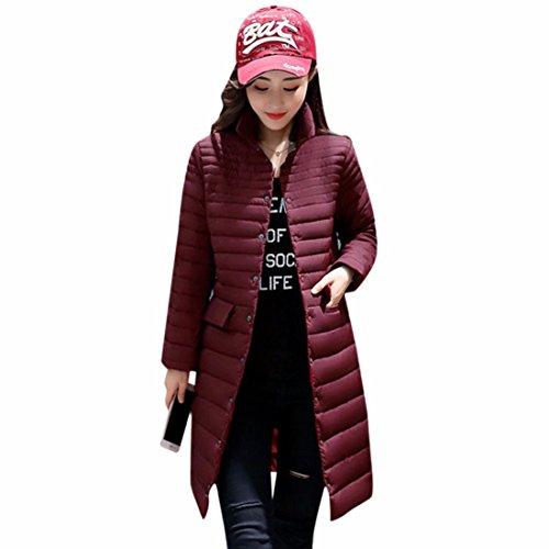 Ai.Moichien Frauen Winter Ultra Light Lange Parka Mantel Outdoor Damen Padded Puffer Jacke Packable, wasserdicht (Packable-frauen Puffer-jacke)