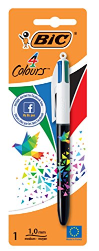 BIC 931881 - Ballpoint pen (ink color Black, Blue, Green, Red), assorted