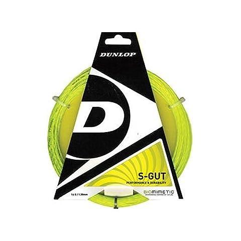 Dunlop Sports S Gut Tennis String Set (16G, Pink) by Dunlop Sports