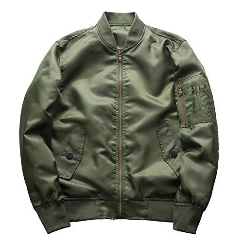 Vertvie Herren Bomberjacke Military Flight Pilot Jacken männlichen Mantel College Oberbekleidung(Armeegrün, 4XL)