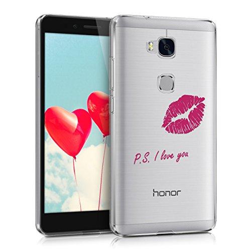 kwmobile Huawei Honor 5X / GR5 Hülle - Handyhülle für Huawei Honor 5X / GR5 - Handy Case in Pink Transparent