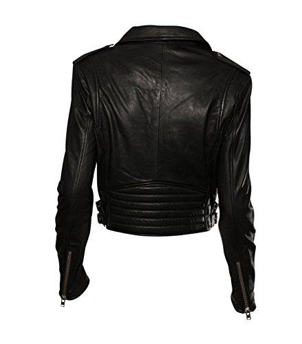 IRO Damen Lederjacke Gipsy Bikerjacke Jacke Leder – Leder – schwarz 01 black 40 - 2