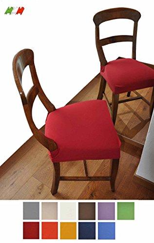 Casa tessile antimacchia coppia di copri seduta per sedia - panna