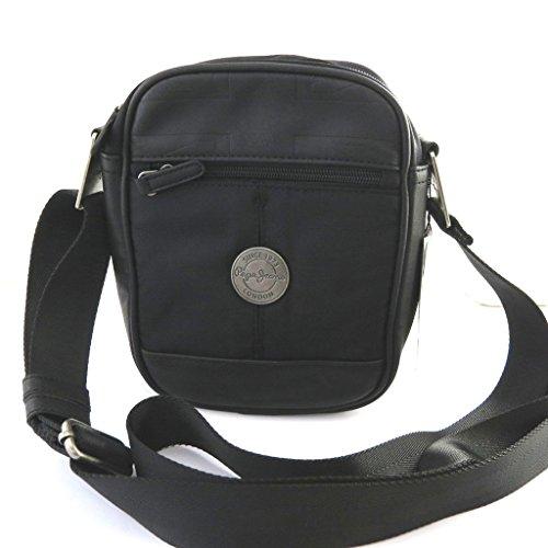 Negro de la vendimia del bolso de hombro 'Pepe Jeans'.