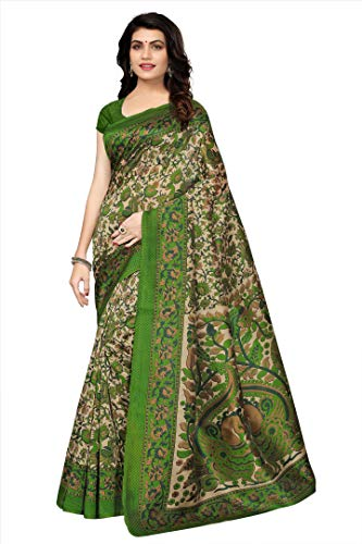 Oomph! Art Silk Saree with Blouse Piece (rbks_Green_Free Size)