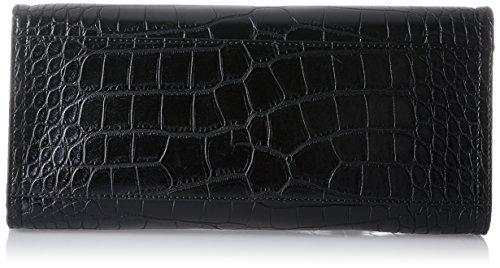 Armani Jeans Damen Bauletto Umhängetasche, 21 x 15 x 30 cm Schwarz (Nero)