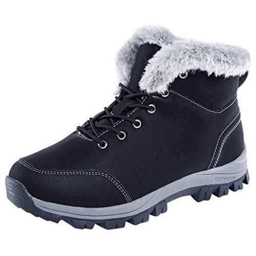 JJggsi4 Stivali da Neve Uomo Donna Trekking Scarpe Inverno Impermeabili Outdoor Pelliccia Sneakers Stivali Moto