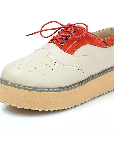 ZQ 2016 Scarpe Donna - Stringate - Tempo libero / Ufficio e lavoro / Formale / Casual - Comoda / Punta arrotondata - Plateau - Finta pelle - , orange-us8 / eu39 / uk6 / cn39 , orange-us8 / eu39 / uk6  brown-us8 / eu39 / uk6 / cn39