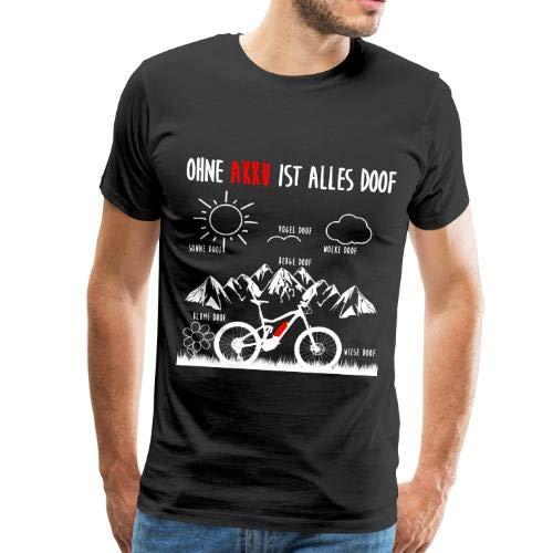 Spreadshirt E-Bike E-MTB Ohne Akku ist Alles Doof Spruch Männer Premium T-Shirt
