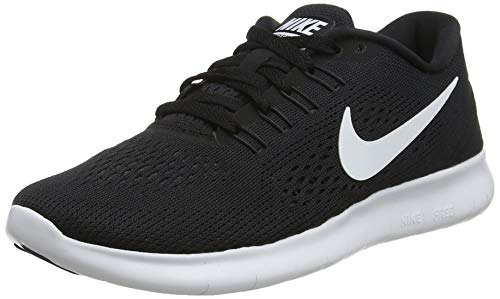 Nike Damen Free RN Laufschuhe Schwarz/Weiß/Anthrazit), 42 EU