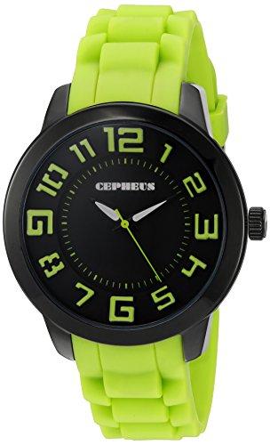 CEPHEUS Herren-Armbanduhr XL Analog Quarz Silikon CP604-620A