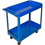 Werkstattwagen Werkzeugwagen Rollwagen 2 Etagen Montagewagen Werkstatt Blau