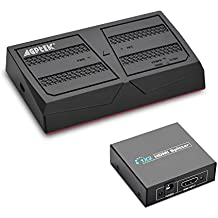 AGPtek 1080P HD Video Capture kit with splitter Live Streaming Video w/ remote control Game Capture for PS4 and PS3, XBOX ONE, N64, Blu-ray via HDMI, Ypbpr component/AV composite Input, USB Flash or S