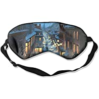 Eye Mask Eyeshade Winter Snowflakes Street Sleeping Mask Blindfold Eyepatch Adjustable Head Strap preisvergleich bei billige-tabletten.eu