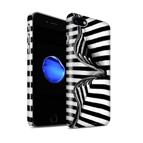 STUFF4 Glanz Snap-On Hülle / Case für Apple iPhone 8 / Löffel/Streifen Muster / Abstrakte Kunst Kollektion Gabel/Streifen