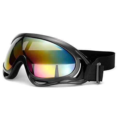 Oipoodde Radfahren Brille Männer oder Frauen Motorrad Bike Ski schützen Sich vor wehenden Sand Eye Schutzbrille Outdoor Sports Sonnenbrillen (Farbe : Schwarz, Größe : Free Size) -