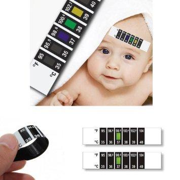 Stirn Thermometer ~ LCD Kontakt Profi Schnell Lesen klinischen Stirn Strip für medizinische themperature Lesen