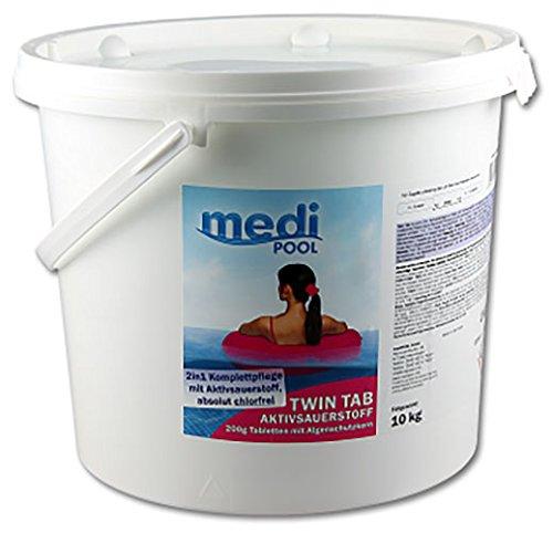 POWERHAUS24 Twin Tab Aktivsauerstoff, 10kg - Medipool 598010MP