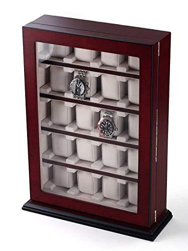 Rothenschild Uhrenvitrine RS-1100-20BU für 20 Uhren bubinga