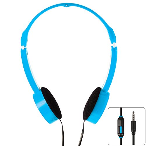 XCSOURCE 3.5mm Universal faltbare skalierbare Line Control MP3 Musik Headsets Kinder Over-Ear-Kopfhörer Blau TH335