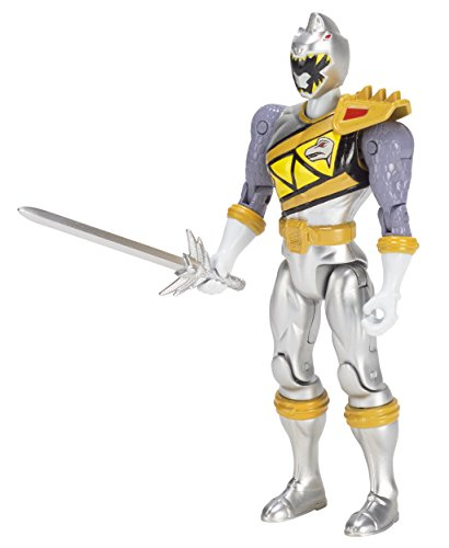 Image of Power Rangers 43246 Dino Supercharge 12.5cm Figure - Silver Ranger
