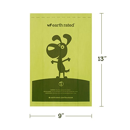 Earth Rated Hundekotbeutel, biologisch abbaubar, ohne Duft, 8 Rollen, insgesamt 120 Stück - 3