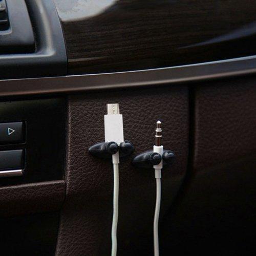 Vertrieb Wildermuth Neuheit 4X Kabelmanger fürs Auto zb für KFZ-Ladekabel, Handykabel, Ladekabel, Navigation, Lautsprecherkabel, ect