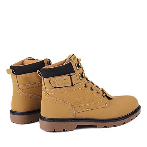 Automne Et Hiver Chaussures Pour Hommes Le Nouveau Grande Taille De Plein Air Loisir Outillage Bottes Pour Hommes Bottes De Martin Chaussures Big Head yellow