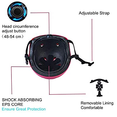 KickFun Child Skateboard Helmet Ideal for Skateboard, Scooters, Inline Skating,Roller Skate, Bicycle with Adjustable Headband Suitable for kids Boys & Girls Aged 3-10 Years Old from KickFun
