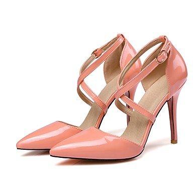 LvYuan Damen-Sandalen-Kleid-Lackleder-Stöckelabsatz-Andere-Schwarz Gelb Rosa Weiß Beige Pink