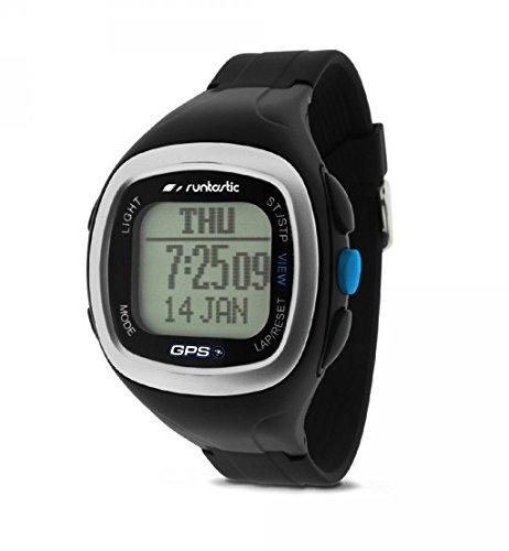 Preisvergleich Produktbild Runtastic Heart Rate GPS Watch (Uhr mit Brustgurt zur Herzfrequenzmessung) Schwarz