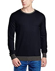 Gas Mens Cotton Sweater (8059890673216_75811194_Medium_Navy Blue)