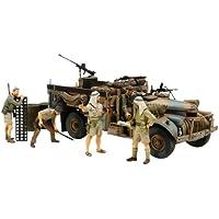 Tamiya 300032407-1:35 ScaleBritish LRDG Command Car with 7 Figures