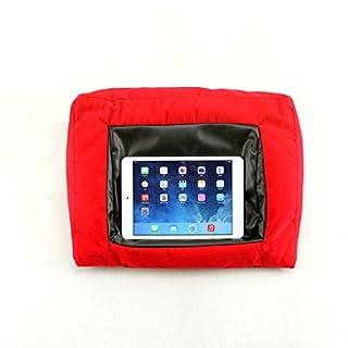 WYZ iPad Pillow und Halterung Kissen für iPads Haltekissen für iPad und andere Tabletgeräte, Schwarz Für Zuhause, das Bett oder den Schreibtisch Verhindert Verletzungen durch wiederholte Beanspruchung und Schulterschmerzen Beanbag-Füllmaterial (rote)