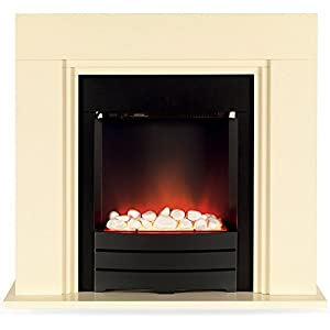 Beldray Winsford Electric Fireplace Suite Ivory 2000 W