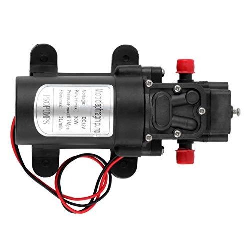 Miniatur-Membranpumpe Selbstansaugung Landwirtschaftliche Pumpe 12 V 30 Watt Rückfluss Selbstansaugende Hochdruck Elektrische Automatische Schalter - Schwarz