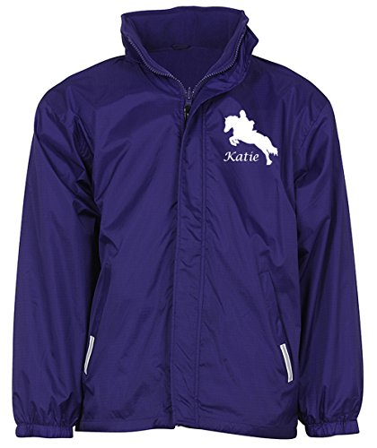 41mU5pIaTIL BEST BUY UK #1Personalised Girls Horse Riding Jacket (Purple, Age 9 10 years) price Reviews uk