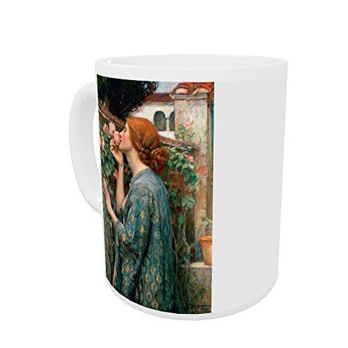 The Soul of the Rose, 1908 (oil on canvas).. - Henkelbecher - Standardgröße - White Mug 1908 Rosen